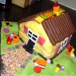 Вафельный торт «Бабушкин домик»